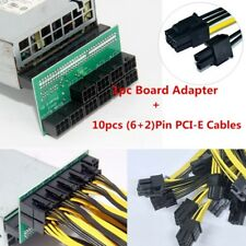 DPS-1200FB Power Supply Breakout Adapter Board+ 6Pin to (6+2)8Pin PCI-E Cables