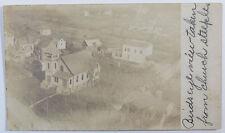 Real Photo Postcard - Birds Eye View Taken From Church Steeple