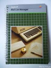 Manuel Apple III Mail List Manager [ Version Anglaise ]