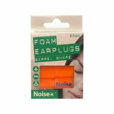Noise-X Foam Barrel Ear plugs - 2 Pairs