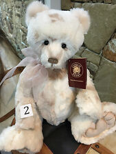 Charlie Bears Jane Fully Jointed Plush Collectable Bear 38cm 2016 Teddy