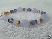Kirks Folly Designer Jewelry Bracelet Purple Lilac Beads Stretch Bracelet