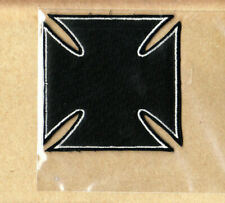 Iron Cross - Patch - Embroidered - Iron On - Black - Collector's - Licensed New