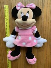 Minnie Mouse Disney 16� Plush Stuffed Animal Authentic Pink Polka Dot Dress Mint