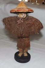 Vintage VIETNAM Vietnamese Doll with PINE NEEDLE Clothing Outfit