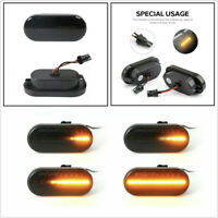 2 x Smoked Lens Dynamic Flowing Auto Car LED Side Marker Fenders Indicator Light
