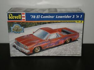 '78 CAMINO LOWRIDER 3 N 1 MODEL KIT REVELL 2000 1/25 UNASSEMBLED