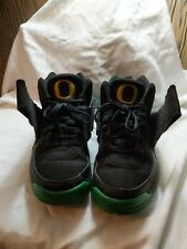 Nike Air Mission PRM Oregon Ducks 4 2014 BLACK SUADE,APPLE GREEN AND YELLOW