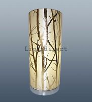 CREAM LAMPSHADE TREE BRANCH EFFECT TABLE LAMP BEDSIDE PAD LAMP BASE