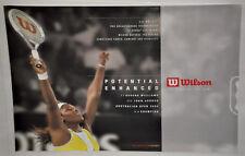 SERENA WILLIAMS 'Potential Enhanced' Wilson nCode Tennis Poster Vintage (282)