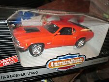 AMERICAN MUSCLE 1970 MUSTANG BOSS 429 1/18 ertl  7485 orange 1991