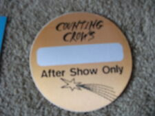 Counting Crows After Show Tour Backstage Concert Pass Orange