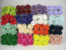6cm Colourfast Artificial Foam Rose. Wedding Craft Flowers. 6 heads 40+ colours