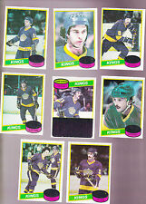1980 / 81 Topps Team SET lot of 8 Los Angeles KINGS NM+ DIONNE SIMMER TAYLOR