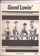 THE RASCALS - GOOD LOVIN' - ORIGINAL& MINT U.S.'60s SHEET MUSIC -