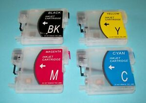 Short Refillable LC38 LC67 cartridges for DCP 165C 185C 195C