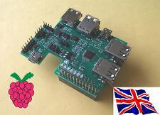 Rs-pi 7 PORTE USB HUB-I2C A / D D / A RTC 1-Wire Board per Raspberry Pi