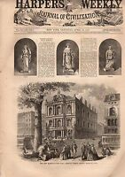 1867 Harper's Weekly March 23-Irish uprising; Arion Society; Nast; Boston hall