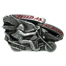 Western Motorcycle Biker Metal Motor Ride The Wind Eagle's wing Belt Buckle