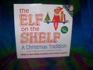 ELF ON THE SHELF BLUE EYED BOY SCOUT ELF DOLL & A CHRISTMAS TRADITION SET BOOK