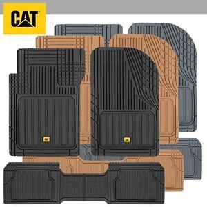 CATERPILLAR® 3pc Heavy Duty Odorless Rubber Floor Mats Fit for Car Truck SUV VAN