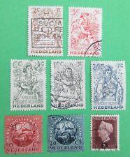 Nederland NVPH 542 t/m 549 Wereldpostver. Kinderzegels 1949 gestempeld