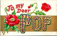 """Lot of 11 Antique UNUSED Motto Series Postcards - Embossed - """"To my dear...."""""""
