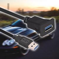 3.3ft USB 3.0 Einbau Buchse Adapter Anschluss Verlängerung Kabel KFZ Auto MP3 PC