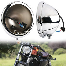 "Chrome 5 3/4"" 5.75 Inch LED Daymaker Headlight Housing DRL For Harley Davidson"
