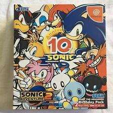 Sega Dreamcast Sonic 10th Anniversary Birthday Pack JAPAN NTSC US seller
