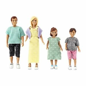 Lundby Doll's House Doll Family Playset - Classic: Mum, Dad and two kids