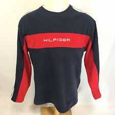 Vintage 90s Tommy Hilfiger Color Block Reflective Fleece Sweatshirt Coat Jacket