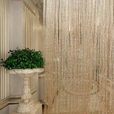 String Curtains Patio Net Fringe for Door Tassel Fly Screen Windows Divider Wniu 1pc Champage 100cm X 200cm