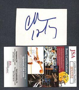 JSA Charles Barkley Autographed Signed AUTO Signature Cut HOF TRB 513