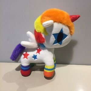 "Tokidoki Bowie Unicorno Plush Soft Toy Rainbow Unicorn - 9"" Approx"