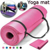 10mm Thick Yoga Mat Pilates Fitness Meditation Exercise Camping Gym Pad Non-Slip