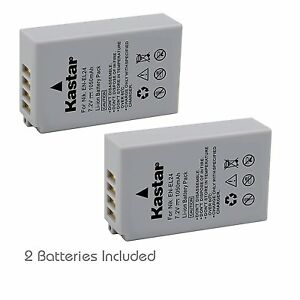 2x Kastar Battery for Nikon EN-EL24 Nikon 1 J5 Camera