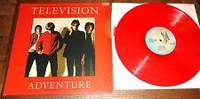 Aventura de televisión ~ ~ Reino Unido Rojo Vinilo Elektra Lp 1978 Con Insert & White Bolsa