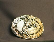 VINTAGE 1970s **THE BRONCHO BUSTER** Frederic Remington Belt Buckle