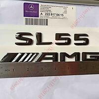 GLOSS BLACK BENZ SL55 REAR TRUNK LETTER BADGE EMBLEM FOR BENZ SL-CLASS R230 R231