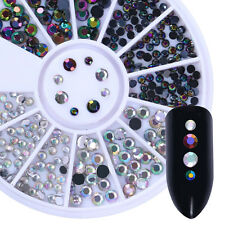 Chameleon 3D Nail Art Decor in Wheel Flat Bottom Colorful Rhinestone