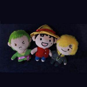 One Piece Luffy Roronoa Zoro Sanj Pirates Doll Plush Toy Keychain Keyring Bag Be