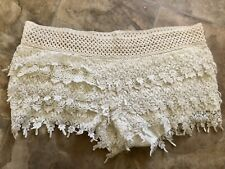 Other Follow Junior Crochet Lace Beige Shorts Size Large