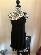 Women's Fashion Junkee One-Shoulder Black Mini Dress Sz. S