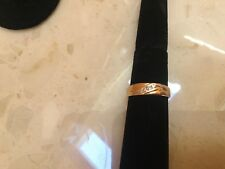14K Yellow Gold Diamond Chips Wedding 9.5 Band Ring - Excellent