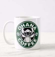 Lilo and Stitch Ohana Coffee Mug Coffee Tea Cup Work Drink Funny Starbucks