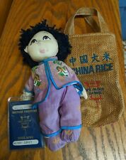 VINTAGE ASIAN RICE PADDY BABIES DOLL w/ BRITISH PASSPORT