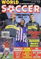 ARNOLD MUHREN / ULI HOENESS / REAL MADRID TEAMWorld SoccerJul1989