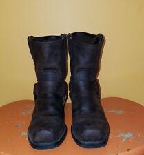 Vintage Frye Harness Brown Leather Motorcycle Boots Men 8 Women 9.5