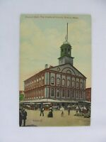 Vintage Postcard Faneuil Hall Cradle of Liberty Boston Mass City Building